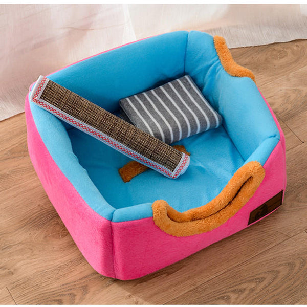 Soft Cosy Igloo Cave Warm Pet Bed Dog / Puppy / Cat / Kitten Cube House Pet Bed - Carolina Superstore