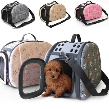 Hunters Creek™ Portable Small Pet Dog Cat Sided Carrier Travel Tote Shoulder Bag Cage House - Carolina Superstore