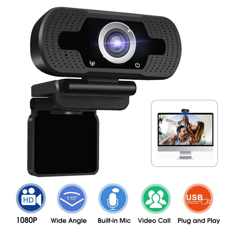 Hunters Creek HD Webcam Wired 1080P with Microphone PC Laptop Desktop USB Webcams Pro Streaming Computer Camera Camcorder - Carolina Superstore