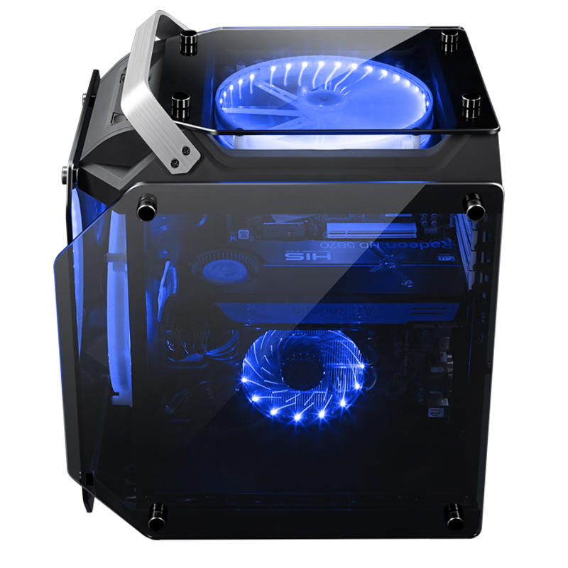 Gorilla Tempered Glass ATX Computer Case Water and Air Cool PC Case Cooling Fan - Carolina Superstore