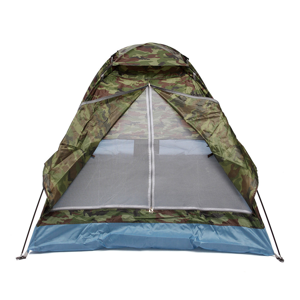Outdoor 1-2 Persons Camping Tent Waterproof Windproof Tents UV Sunshade Canopy - Carolina Superstore