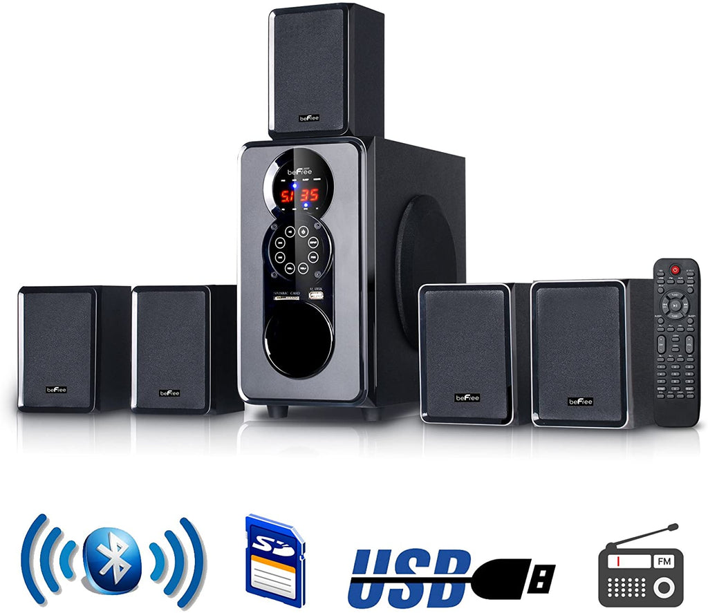 Hunters Creek™ beFree Sound 5.1 Channel Surround Sound Bluetooth Speaker System in Black - Carolina Superstore