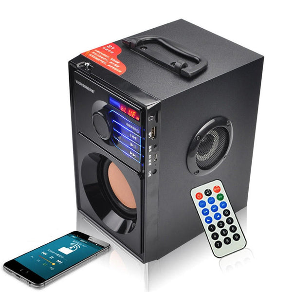 Portable Wireless Bluetooth Speaker USB Column MP3 Play FM Radio Stereo Subwoofer - Carolina Superstore