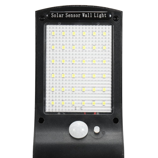 Hunters Creek™ Solar Powered Motion Sensor Waterproof Street Security Light Wall Lamp Outdoor Garden - Carolina Superstore