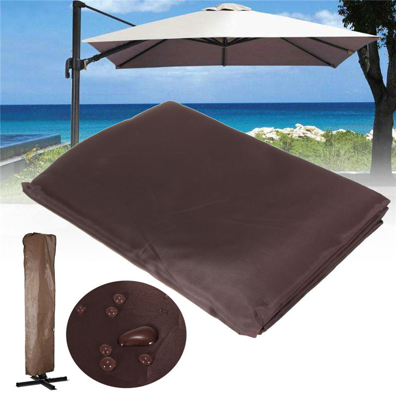 Brown Waterproof Garden Patio Parasol Umbrella Outdoor Canopy Protective Cover - Carolina Superstore