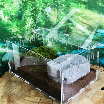 Turtle Tank Reptile Top Habitat Filter Kit Aquatic Large Acrylic Breeding Cage Non Fish Tank - Carolina Superstore