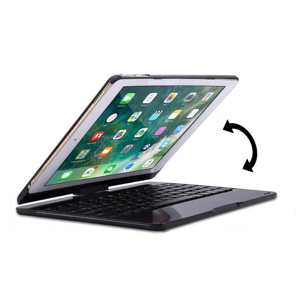 Tablet Keyboard Protective Case 360 Degree Rotation 7 Backlight Bluetooth for iPad Pro 10.5 inch - Carolina Superstore