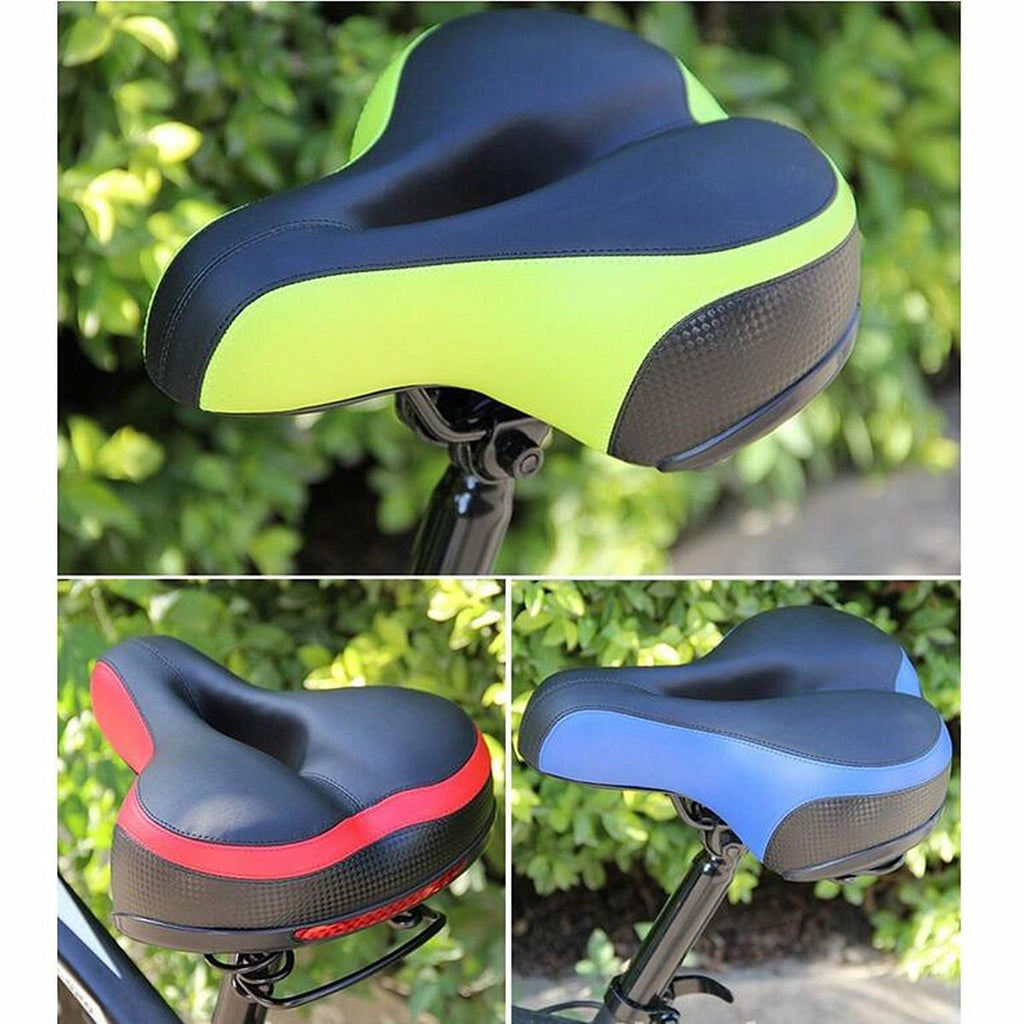 Wide Big Road Mountain MTB Saddle Bike Bicycle Cycling Seat Soft Cushion - Carolina Superstore