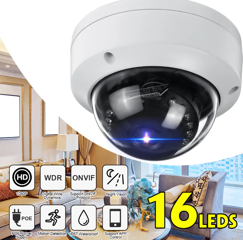 Hunters Creek™ Home Outdoor Security Dome Camera Waterproof Best Digital Night Vision Monitoring System - Carolina Superstore