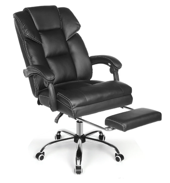 Hunters Creek™ Home Office Swivel Desk Computer Chair Ergonomic Design Wide Seat Retractable Footrest - Carolina Superstore