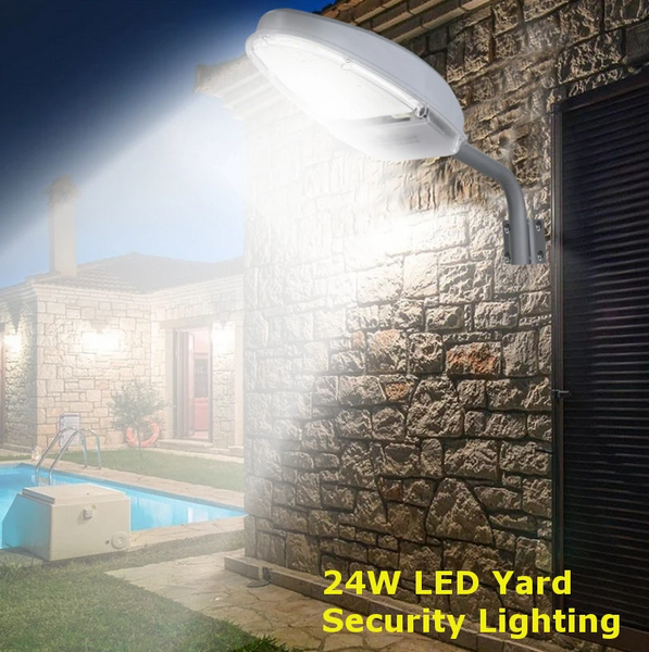Hunters Creek™ Road Street Light Garden Outdoor Yard Led Lamp Security 24W LED - Carolina Superstore