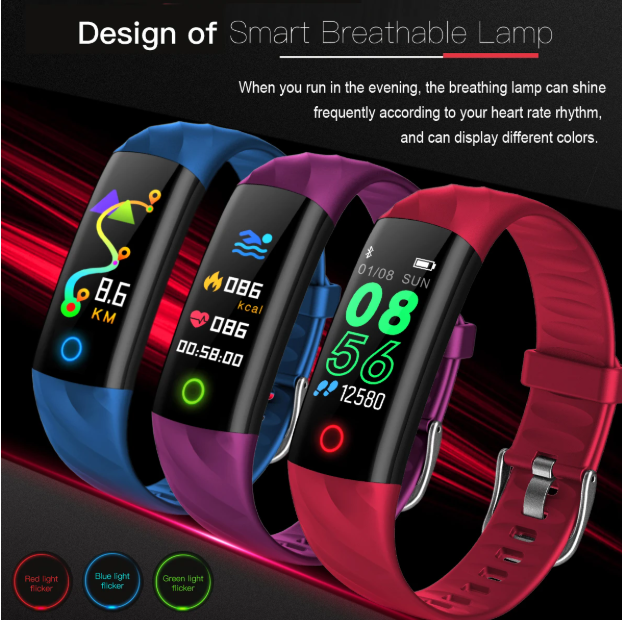 Hunters Creek™ Smart Watch Real time Messages Reminder Heart Rate Blood Pressure Monitor Waterproof Smartwatch Timekeeper - Carolina Superstore