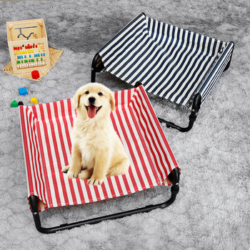 Elevated Dog Pet Bed Folding Portable Waterproof Outdoor Raised Camping Basket - Carolina Superstore