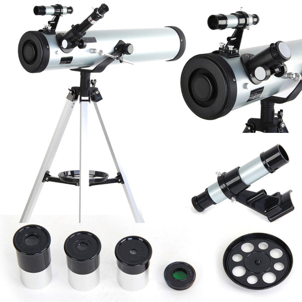 Performance Reflector Astronomical Telescope Reflector Beginner Telescope with Tripod and Eyepieces Dual Purpose Telescopes - Carolina Superstore