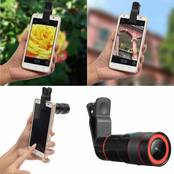 Hunters Creek™ Universal Zoom Telescope Clip-on Camera Lens for Smartphone Tablets - Carolina Superstore