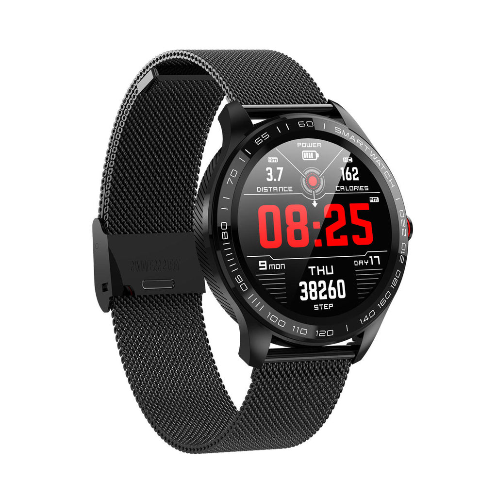 Hunters Creek™ Microwear Heart Rate Business Smart Watch Full Round Touch Screen Stainless Steel Bezel ECG - Carolina Superstore