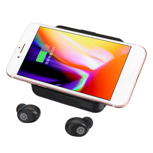 Mini Wireless Bluetooth Earphone Digital Display Sports Headphones Mic Charging Case - Carolina Superstore