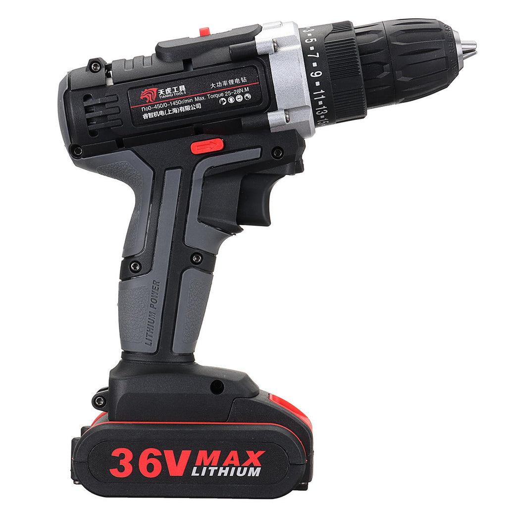 Cordless Power Drills Dual Speed Electric Screwdriver Drill Polishing 2 Li-ion Battery - Carolina Superstore