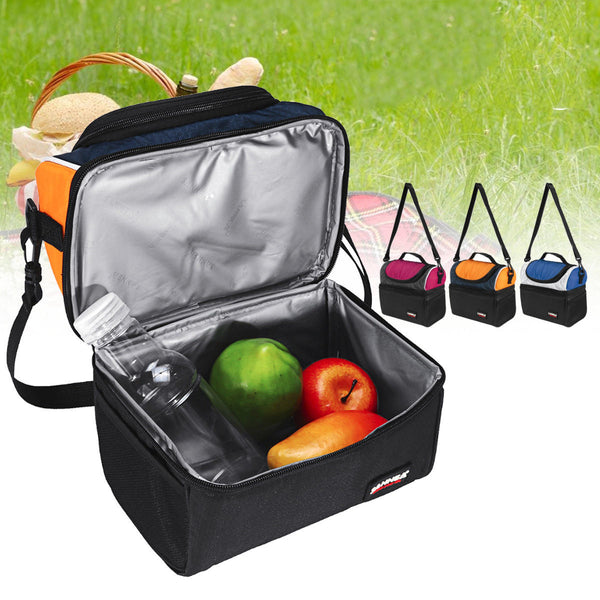 Hunters Creek™ Picnic Bag Waterproof Lunch Shoulder Bag Portable Dual Compartment Camping Thermal Bag Ice Pack - Carolina Superstore