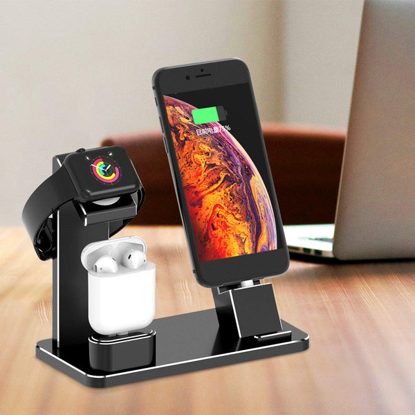 Hunters Creek™ Aluminum Alloy Charging Docking Station Phone Holder Watch Holder iPhone Apple Watch Apple AirPods - Carolina Superstore