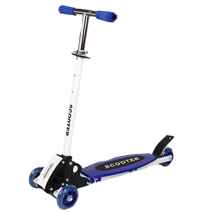 Kids Folding Kick Scooter For Kids 3 Wheels Scooters Adjustable Height Age 3-7 Gift - Carolina Superstore