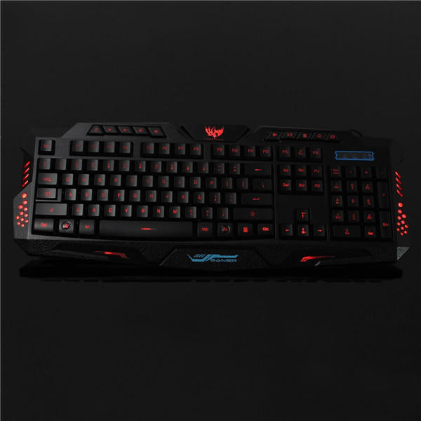 Wired Gaming Keyboard USB 3 Colors LED Backlit Computer Laptop - Carolina Superstore