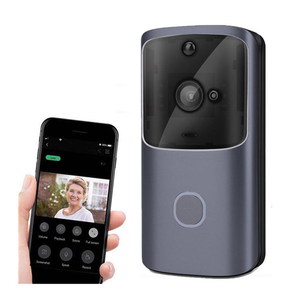 Hunters Creek™ Smart WIFI Video Doorbell Two-way Audio Movement Detection Alarm Security Monitor Indoor Receiver - Carolina Superstore