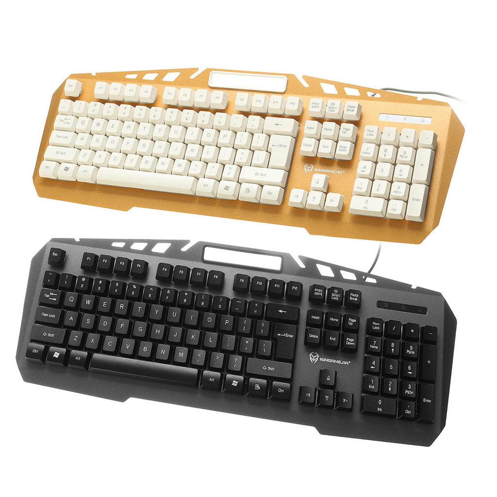 Colorful Backlight Alloy Panel USB Wired Gaming Keyboard LED Gaming Mouse Combo - Carolina Superstore
