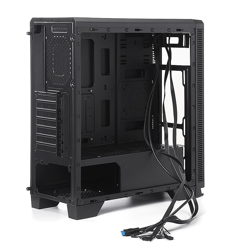 Gaming Tempered Computer Case PC Mid Tower Desktop Chassis - Carolina Superstore