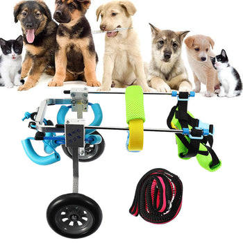 Cat Dog Wheelchair Disabled Handicapped Doggie Traction Walk Training Tools Dog Traction Rope - Carolina Superstore