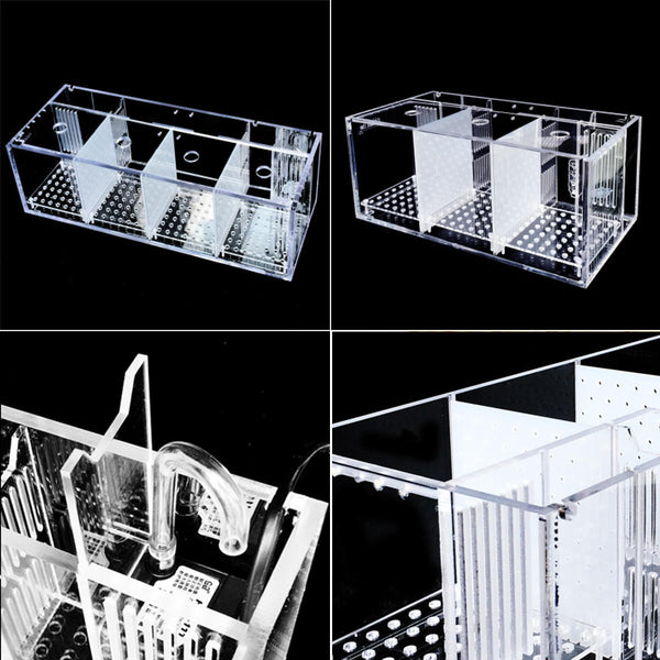 Hunters Creek™ Acrylic Aquarium Baby Betta Hang Fish Tank Guppy Breeding Rearing Hatchery Box - Carolina Superstore