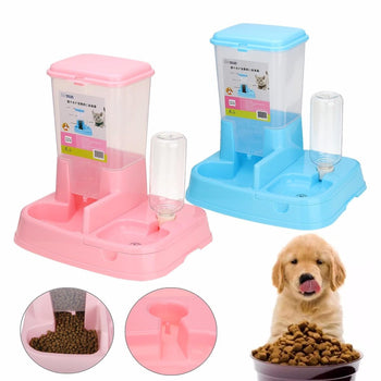 Hunters Creek™ Pet Cat Dog Automatic Water Drinker Dispenser Food Feeder Dish Bowl Bottle Pet Bowl - Carolina Superstore