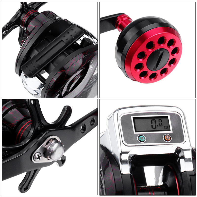 Digital Display Fishing Tackle Spinning Reel Baitcaster Bait Caster - Carolina Superstore
