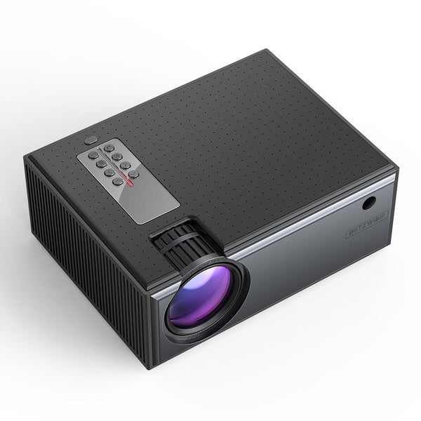 Home Theater Movie Projector 2800 Lumens Multiple Ports Portable Smart With Remote Control - Carolina Superstore