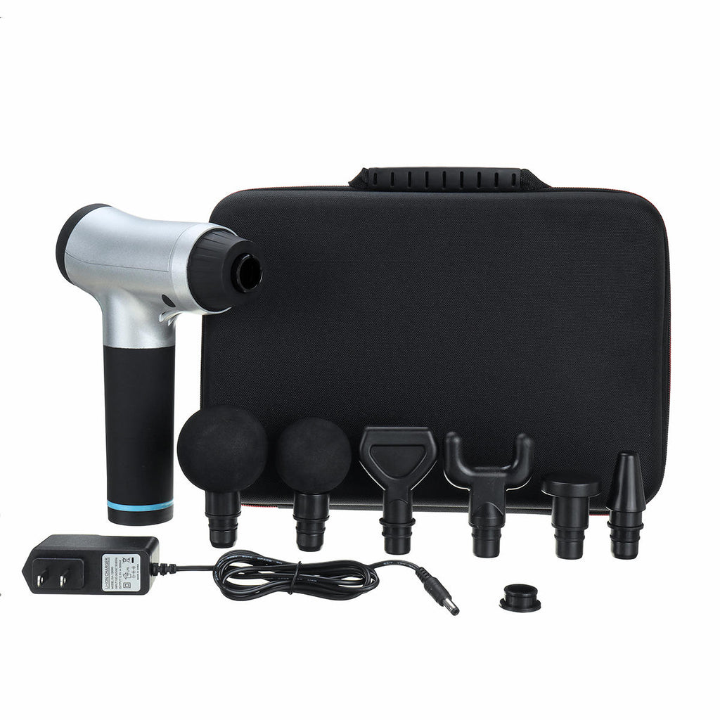Percussion Massager Touch Display Gun 6 Speed Quiet Professional Deep Tissue Massage for Muscle Tension - Carolina Superstore