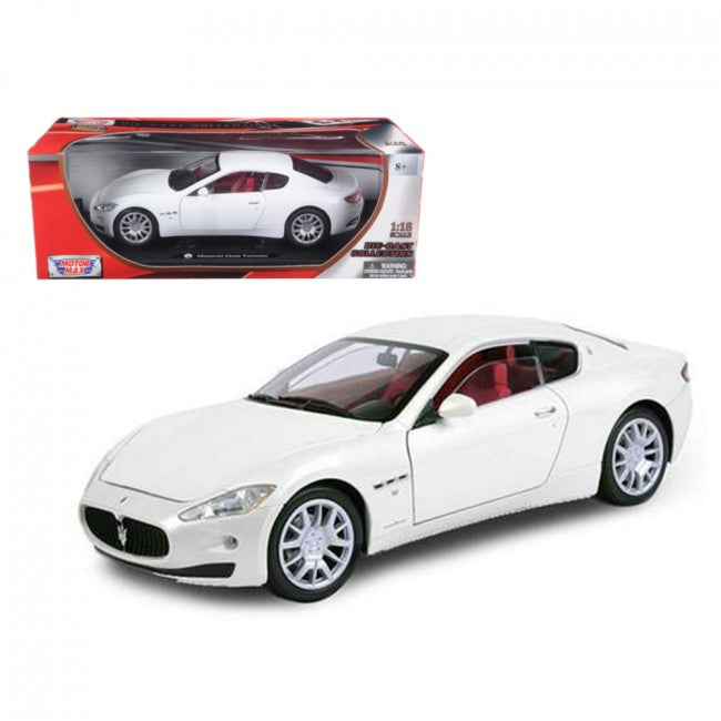 Maserati GT Gran Turismo White 1/18 Diecast Car Model by Motormax - Carolina Superstore