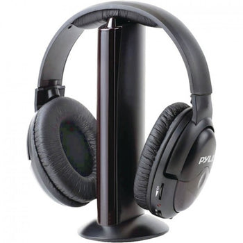 Hunters Creek Professional 5-in-1 Wireless Headphone Sports System Microphone Headset Earphones - Carolina Superstore