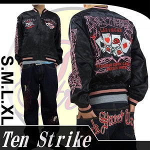 [TEN STRIKE] Trump & Devil Reversible Sukajan - sukajack