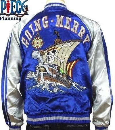 [ONE PIECE] Going Merry Reversible Souvenir Jacket - sukajack