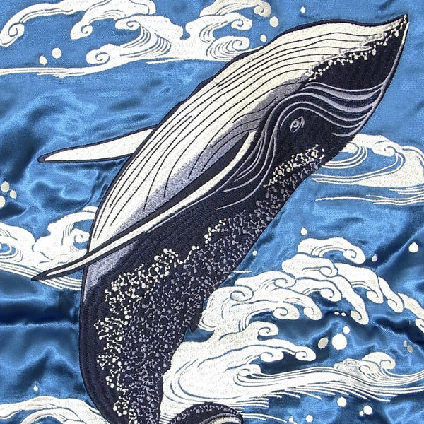 [JAPANESQUE] Waves and Whales Souvenir Jacket