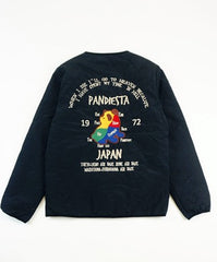[PANDIESTA JAPAN] Total embroidery inner quilting jacket