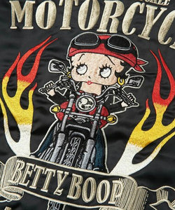 [LOWBLOW KNUCKLE x BETTY BOOP] BETTY FIRE M/C Souvenir Jacket - sukajack