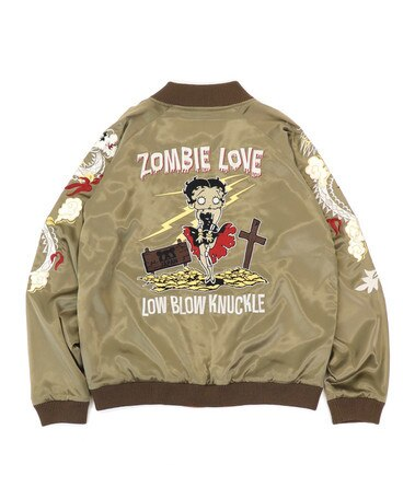 [LOWBLOW KNUCKLE x BETTY BOOP] ZOMBIE LOVE Souvenir Jacket