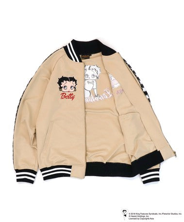 [LOWBLOW KNUCKLE x BETTY BOOP]SPORTY BETTY Full Zip Jersey - sukajack
