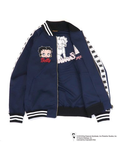 [LOWBLOW KNUCKLE x BETTY BOOP]SPORTY BETTY Full Zip Jersey