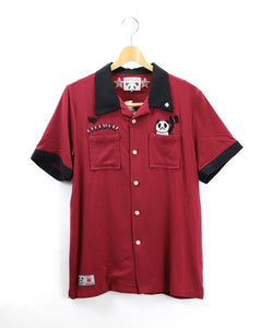 [PANDIESTA JAPAN] Gentle panda bowling shirt - sukajack