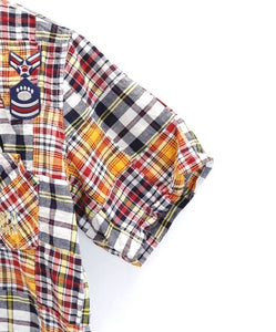 [PANDIESTA JAPAN] J.P.P.D Patchwork check shirt - sukajack