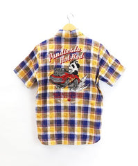 [PANDIESTA JAPAN] HOTROD PANDA Madras check shirt