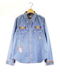 [PANDIESTA JAPAN] Native panda vintage denim shirt