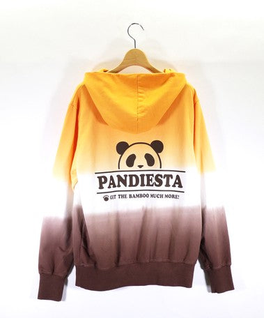 [PANDIESTA JAPAN] Three pandas ride! barry dyeing pull parka - sukajack